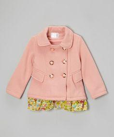 This Pink & Green Button Jacket - Toddler & Girls is perfect! #zulilyfinds