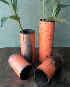 reclaimed pipe vase