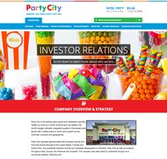Party City - IR, Responsive, Parallax Scroll