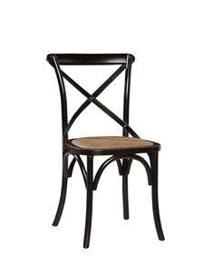 Carol Birch Side Chair - Black