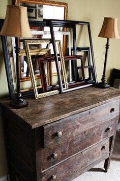 Colby Kern: interior design Eclectic Frames, Dream Decor, Dresser As Nightstand, Vignettes, Framed Artwork, Walls, Dreams, Interior Design, Inspiration