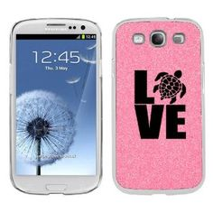 Amazon.com: Pink Samsung Galaxy S3 SIII i9300 Glitter Bling Hard Case Cover KG588 Love Sea Turtle: Cell Phones & Accessories