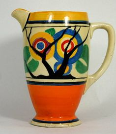 Clarice Cliff Wilkinson Bizarre Jug decorated in the : Lot 121