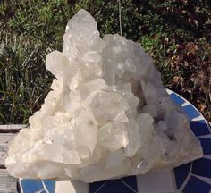 Arkansas Quartz Massive Cluster with Many Record Keepers and Three Isis Faces | eBay