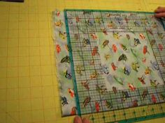 Squaring up your fabric & cutting strips for quilt.
