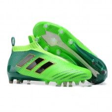 hot sales f8814 49a34 Authentique Chaussures De Foot Adidas ACE 17+ Purecontrol FG - Vert  SolaireOr