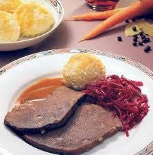 German food. This is my favorite dish of all time. Want it for my last meal. Also hubby makes it and it is out of this world. <3