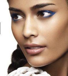 Blue Eyeliner Trend #spadelic #makeup #trends #liner #atlanta