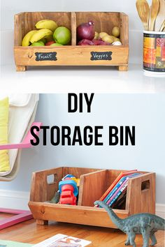 Easy DIY storage Bin with divider using scrap wood. The easy DIY building plans are a perfect beginner woodworking project or a great way to use up the scraps and organize any room - kids room or the kitchen. Kids Woodworking Projects, Wood Projects For Kids, Scrap Wood Projects, Woodworking Techniques, Diy Woodworking, Woodworking Videos, Project Ideas, Woodworking Magazine, Woodworking Furniture
