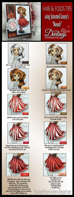 Copic coloring folds tutorial