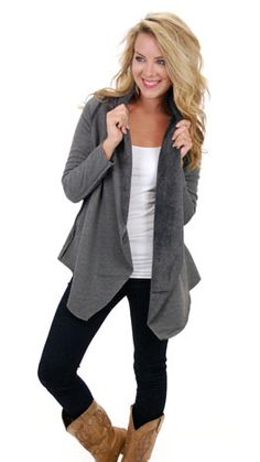 Get snuggly in this cardigan! $56 at shopbluedoor.com