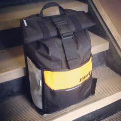 Awesome vinyl, black & sport gold  #ynotcustom gulper backpack!