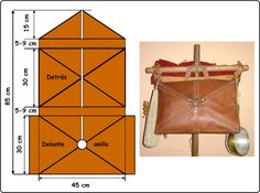 La Sarcina - Loculus - Ancient Roman Haversack or Messenger Bag design.