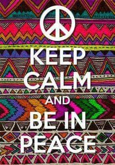 ☮ American Hippie ☮ Keep Calm - Peace