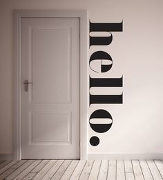 HELLO Wall Decal. Fun way to greet your family and guests! This wall decal is 100% removable. It is best to install on a flat non textured service