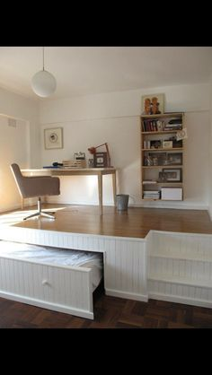 Great space saving idea! Maybe for an office/guest room?