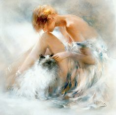 Images D'art, Cross Paintings, Cat Paintings, Diy Painting, Cat Art, Art Pictures, Photos, Female Art, Watercolor Paintings