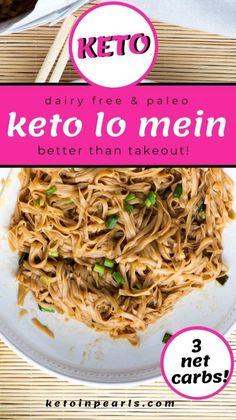 Ketogenic Recipes, Low Carb Recipes, Healthy Recipes, Ketogenic Diet, Healthy Meals, Healthy Food, Healthy Eating, Low Carb Noodles, Shirataki Noodles