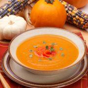 Heerlijke pompoen-paprika soep!