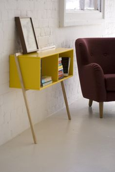 Lacquered rectangular wooden console table LEAN by And Then Design | #design Frank Flavell