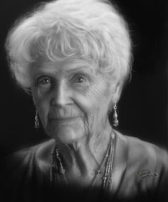 Pretty sure this is older Rose from Titanic. Awesome Drawings, Pretty Drawings, Awesome Art, Cool Art, Pencil Portrait, Portrait Art, Pencil Art, Pencil Drawings, Gloria Stewart