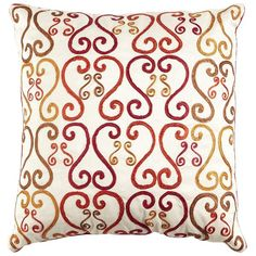 Labor Day Party Decor: Simple and Comfy. Sunset Scroll pillow