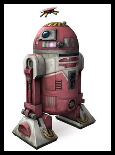 """QT-KT (""""Qutee""""), is an R-series Astromech droid. A member of D-Squad and Jedi Knight Aayla Secura's co-piolit. Around 20 BBY, QT-KT and the rest of D-Squad, led by Colonel Meebur Gascon, were given a mission to infiltrate a Separatist ship and steal an encryption module. Before the mission D- Squad saw the Parwan doctor Gubacher, he installed in Qutee a modification that allowed her to release a high-powered magnet. She used the magnet during D-Squad's mission when they had to remove several…"""