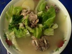 Maricel posted an update: Pork Spareribs Soup for lunch