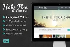 Great Holy Fire - Church PSD CreativeWork247 - Fonts, Graphics, Themes, Temp...