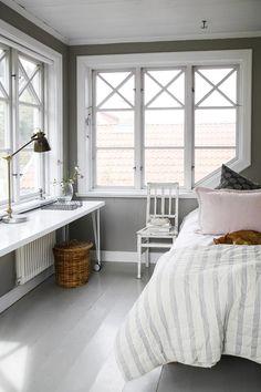 Cozy bedroom in a Swedish farmhouse
