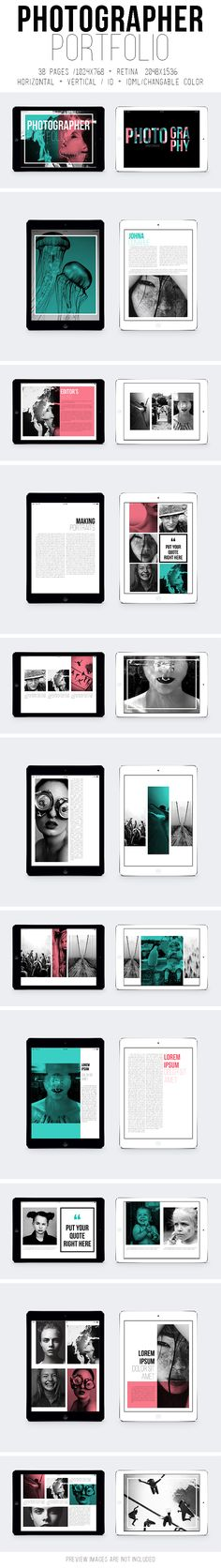 Tablet Photographer Portfolio on Behance