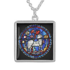 Aries - Astrology - Gothic Stained Glass Windows - Custom Necklace