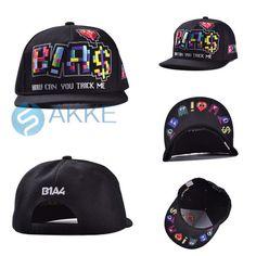 2015 New Korea Style Cartoon Hip-hop Snapback Hat Black Baseball Cap Visor Hats #New #BaseballCap