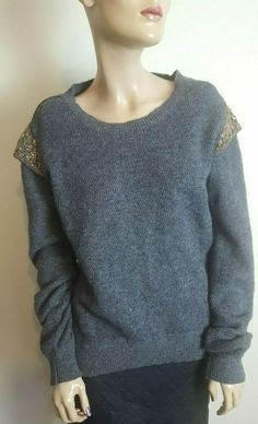 6bad45e5049d 🦄Day Birger et Mikkelsen Woman Size 40 12-14 Grey Angora Wool Jumper Knit