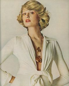 Vogue Editorial January 1 1972 - Denise Hopkins & Susan Blakely by David Bailey