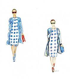http://www.bethbriggs.com/07/ladies-of-burberry/  #fashionillustration, #Burberry
