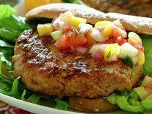 Kyllingburger med paprikasalsa