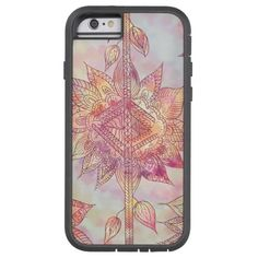 Retro Abstract Floral Paisley Sketch Pattern iPhone 6 Case