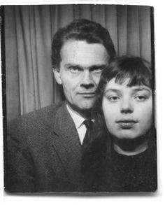 Helga Philipp mit H. C. Artmann, undatiert, Automatenfoto