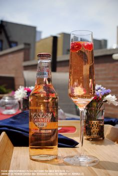 Wake up and taste a Smirnoff Ice Peach Bellini. A perfect addition to your summer morning. Cheers!