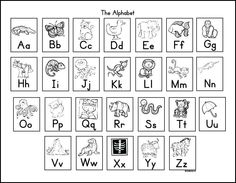 FREE! Ink friendly alphabet chart aligned with a Kinesthetic Alphabet chant.  The perfect way to reinforce letters and sounds in your kindergarten classroom.