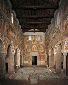847 - Pomposa Abbey is a Benedictine monastery in the comune of Codigoro near Ferrara, Italy. It was one of the most important in northern Italy, famous for the Carolingian manuscripts preserved in its rich library, one of the wealthiest of Carolingian repositories, and for the Romanesque buildings.