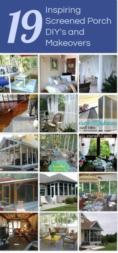 19 inspiring screened porch DIY's and makeovers http://www.hometalk.com/l/WlN