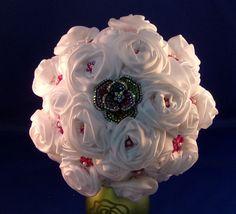 Bouquet-A White Satin Rose