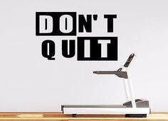 GYM WALL DECAL - MOTIVATIONAL HOME GYM WALL DECOR - DON'T QUIT - INSPIRATIONAL