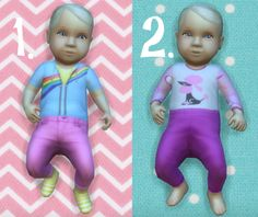 It's all about clutter, Baby Overrides: Set 10 - Light Skin/Girl + Blond....