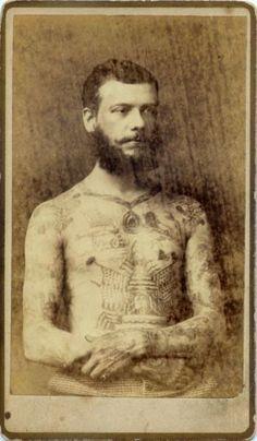 Fotos antigas de homens tatuados
