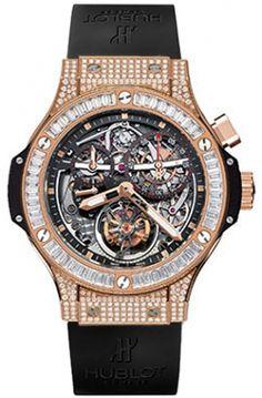 e1ae5e7c367 Hublot Bigger Bang Tourbillon Jewellery 44mm Mens Watch 302k Pulseiras