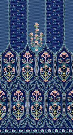 Textile Pattern Design, Surface Pattern Design, Textile Patterns, Textile Prints, Pattern Art, Print Patterns, Impression Textile, Turkish Pattern, Motifs Textiles