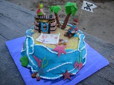 """""""Пиратский"""" #торт_на_заказ_харьков #для_мальчиков #бисквитный_торт"""